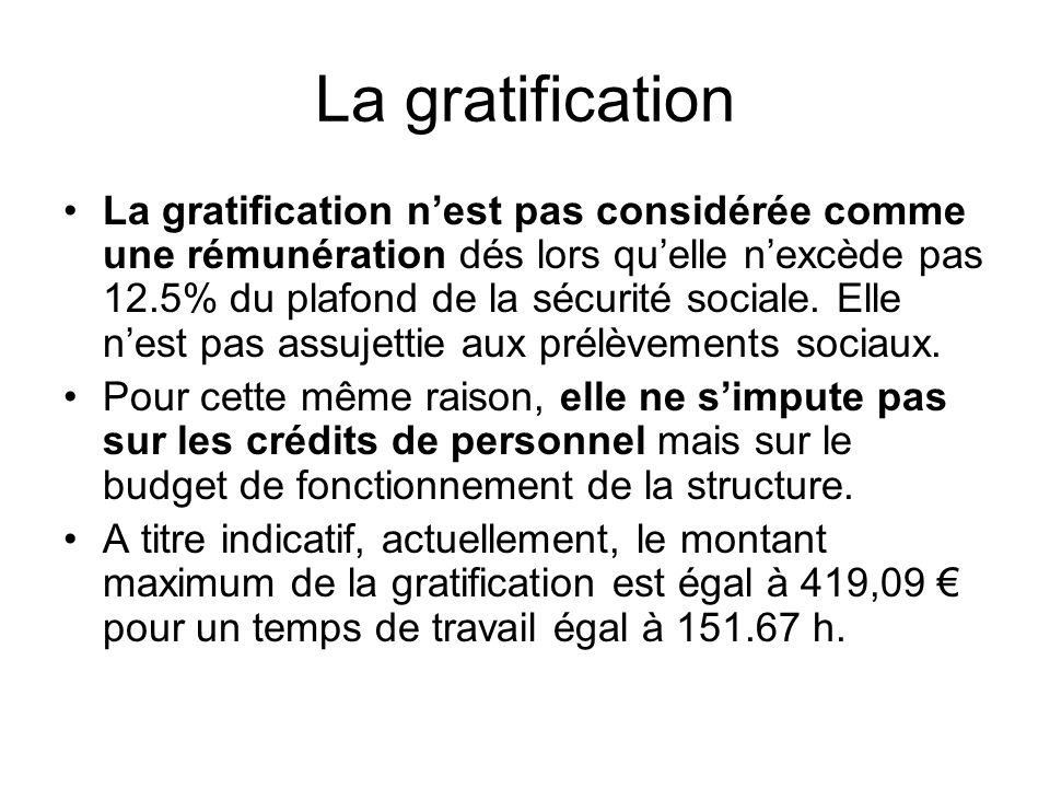 La gratification