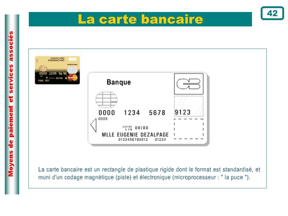 La carte bancaire 42 Page du cours N°91