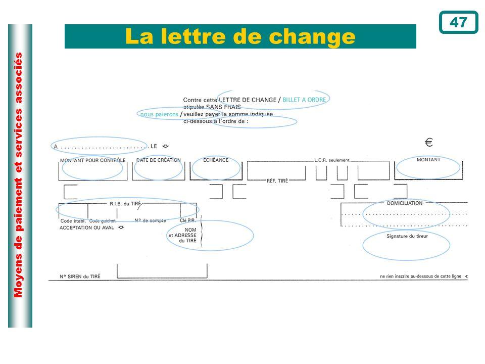 La lettre de change 47 Page du cours N°109
