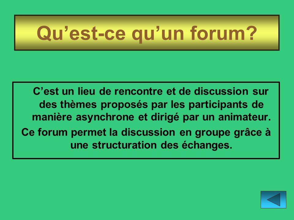 Qu'est-ce qu'un forum