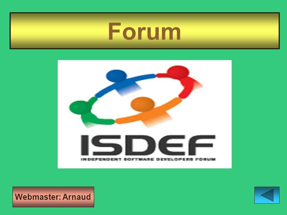 Forum Webmaster: Arnaud