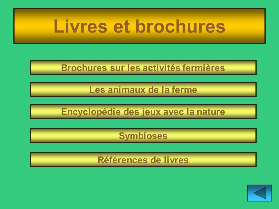 Livres et brochures Brochures sur les activités fermières