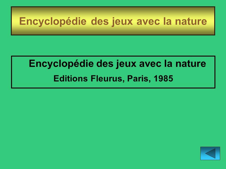 Encyclopédie des jeux avec la nature