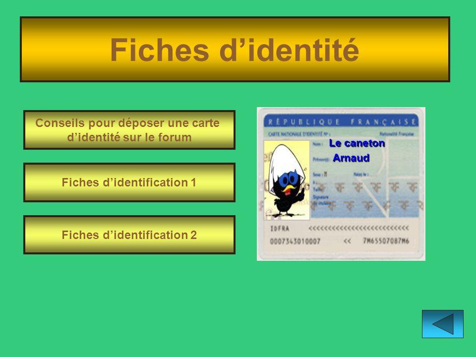 Fiches d'identité Conseils pour déposer une carte