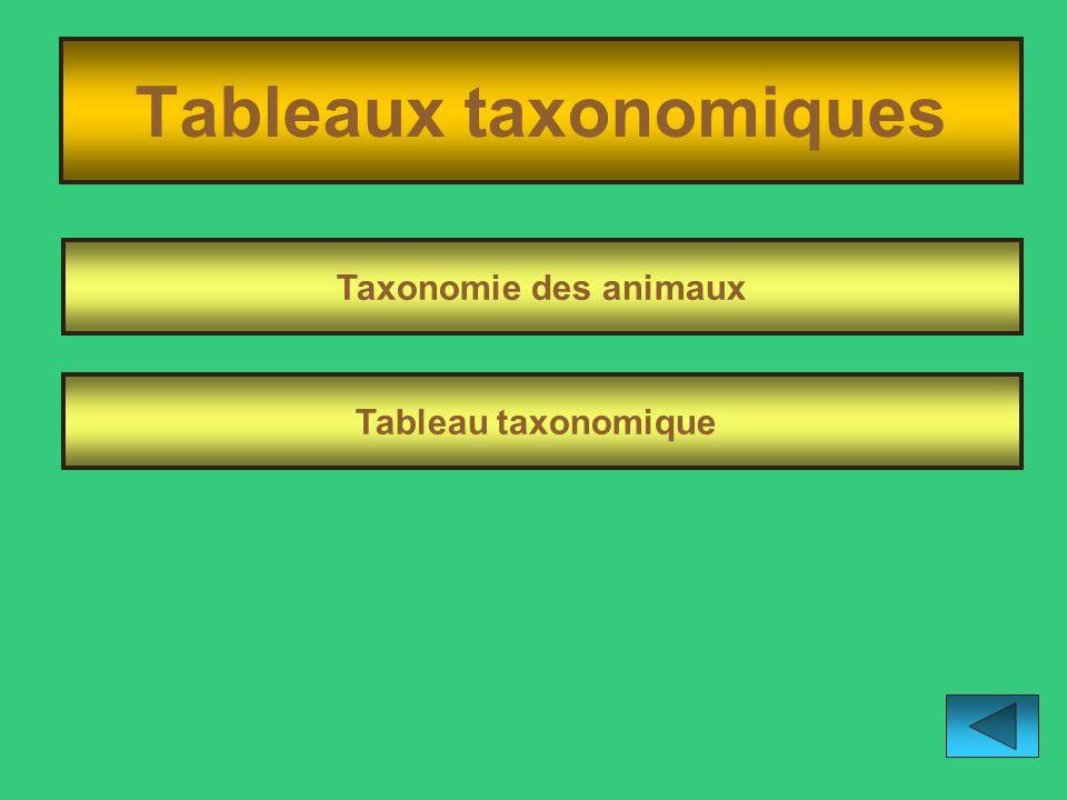 Tableaux taxonomiques