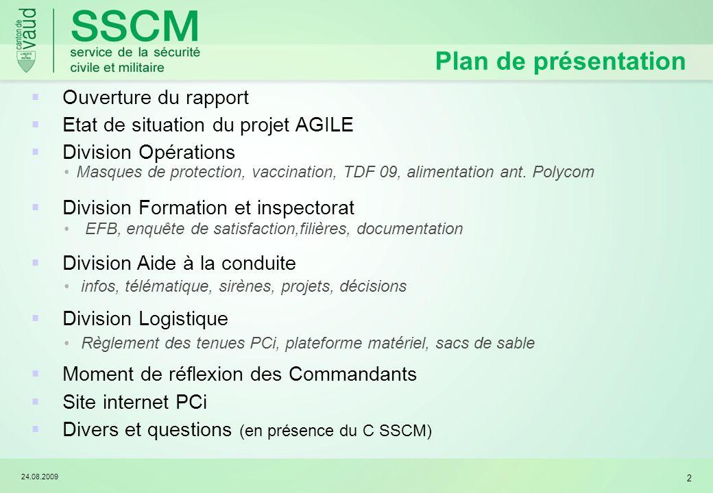 Plan de présentation Ouverture du rapport