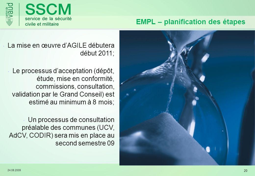 EMPL – planification des étapes