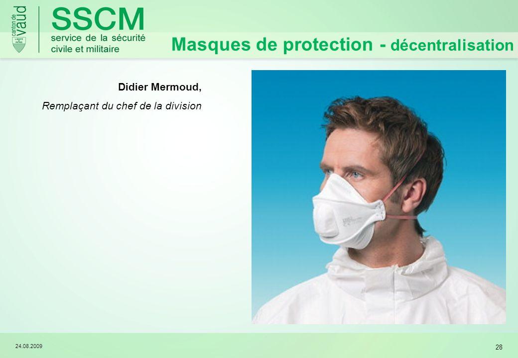 Masques de protection - décentralisation