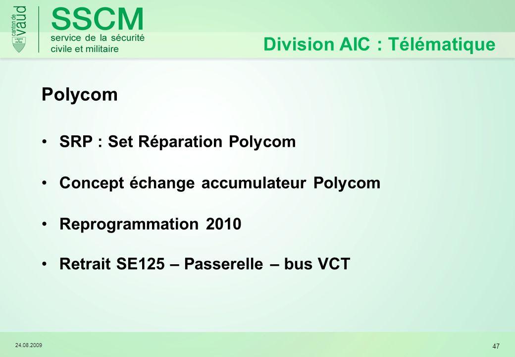 Division AIC : Télématique