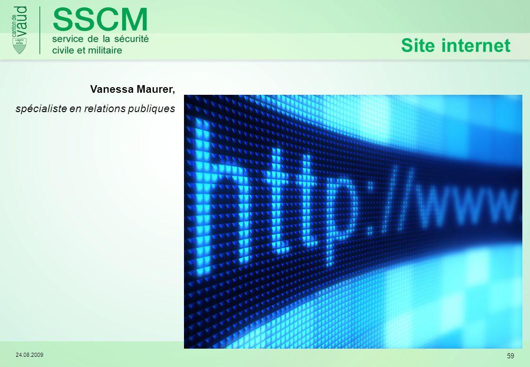 Site internet Vanessa Maurer, spécialiste en relations publiques