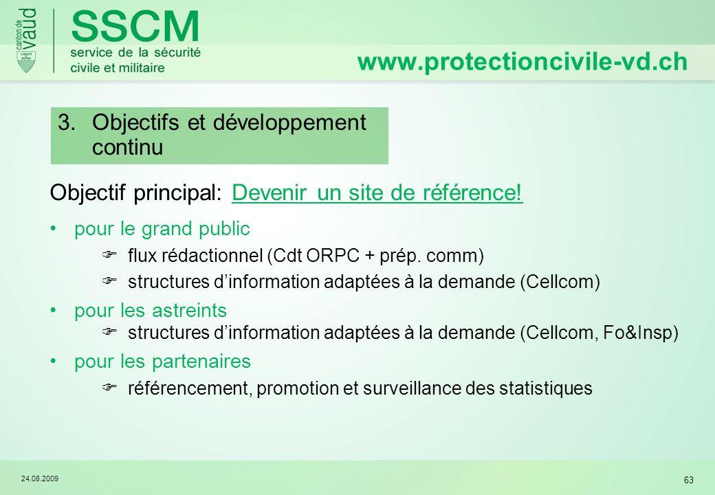 www.protectioncivile-vd.ch Objectifs et développement continu