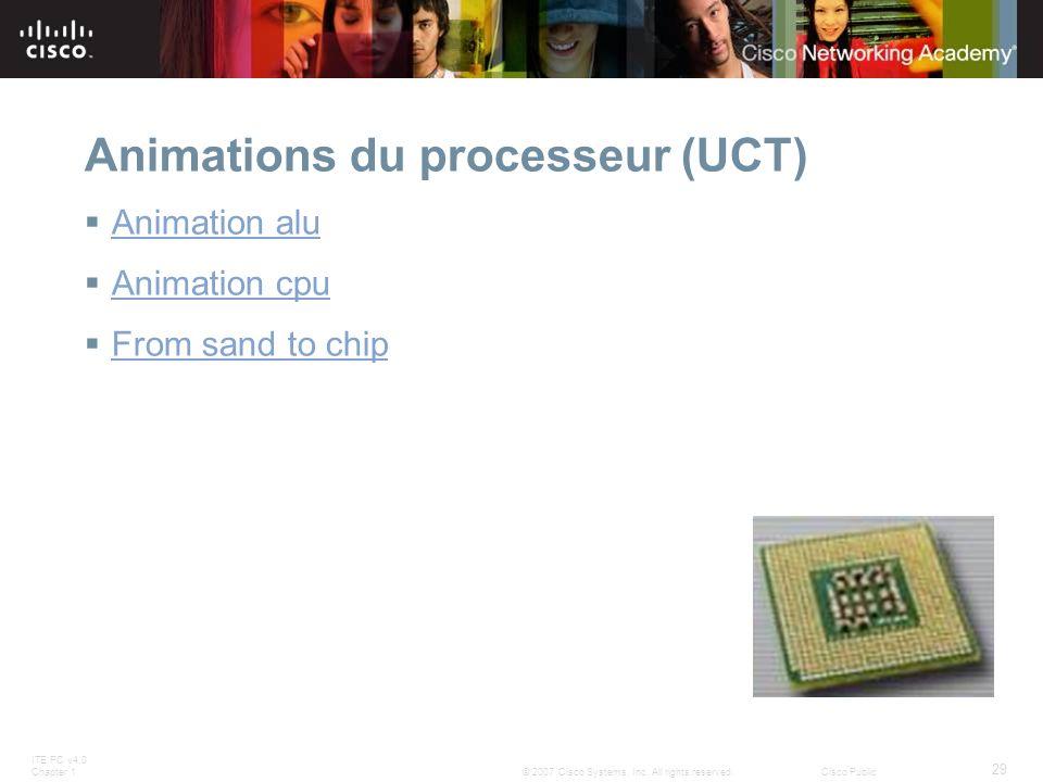 Animations du processeur (UCT)