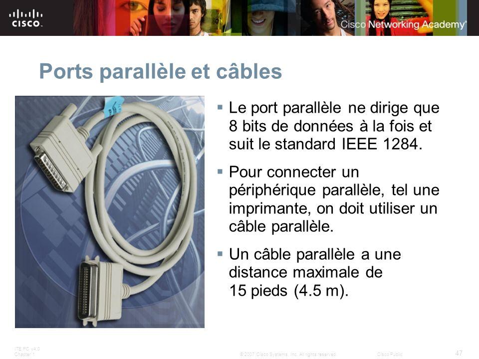 Ports parallèle et câbles