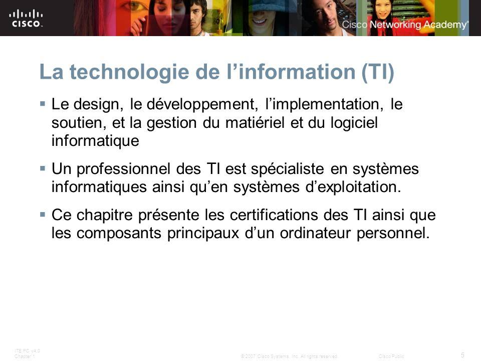 La technologie de l'information (TI)