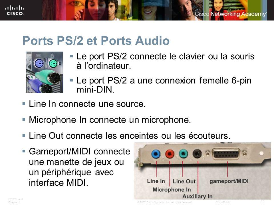 Ports PS/2 et Ports Audio