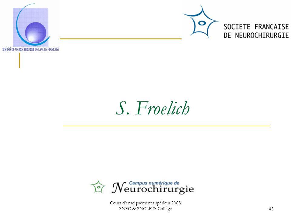 Cours d enseignement supérieur 2008 SNFC & SNCLF & Collège