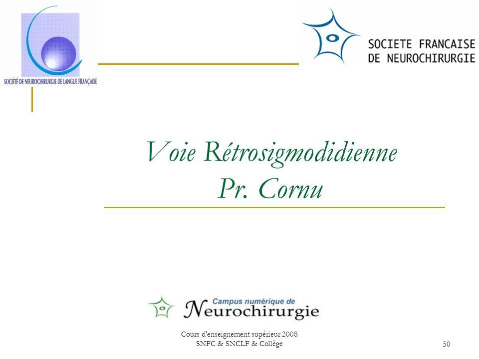 Voie Rétrosigmodidienne Pr. Cornu