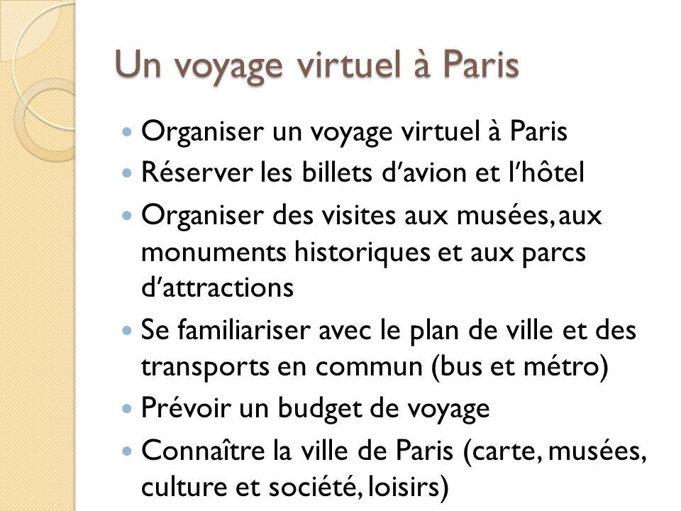 Un voyage virtuel à Paris