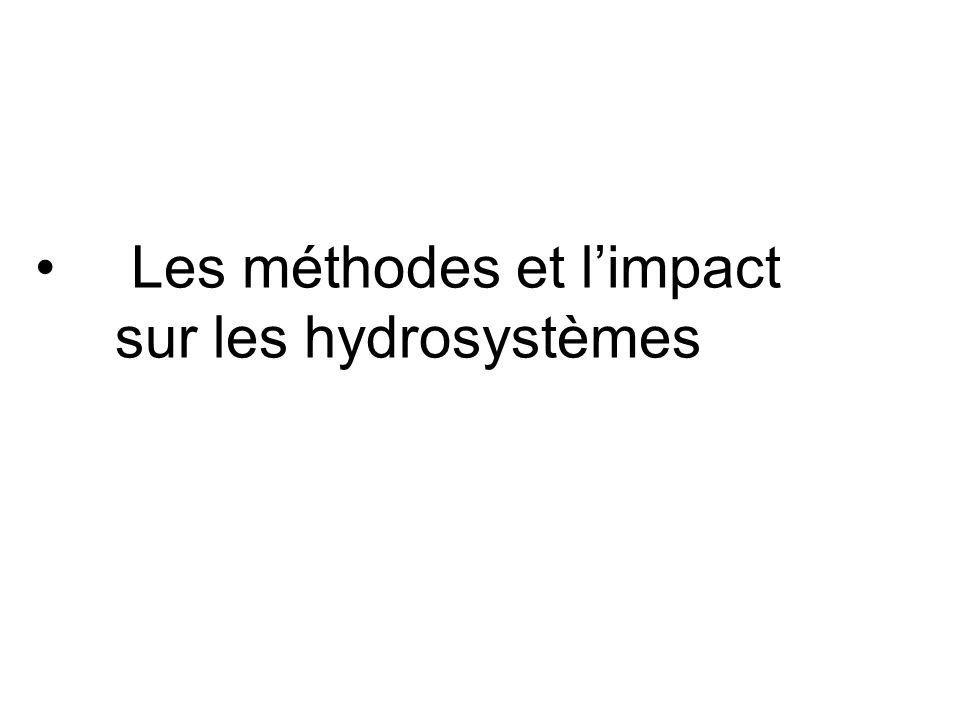 Les méthodes et l'impact sur les hydrosystèmes