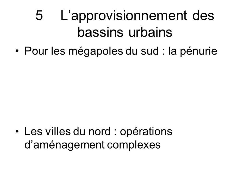 5 L'approvisionnement des bassins urbains