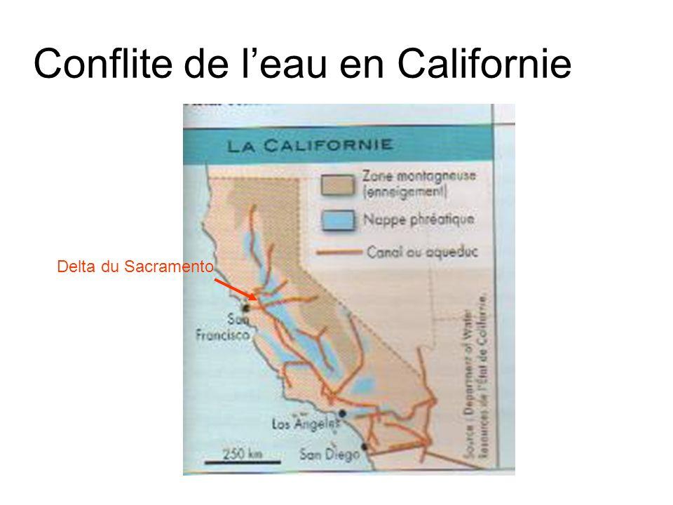 Conflite de l'eau en Californie