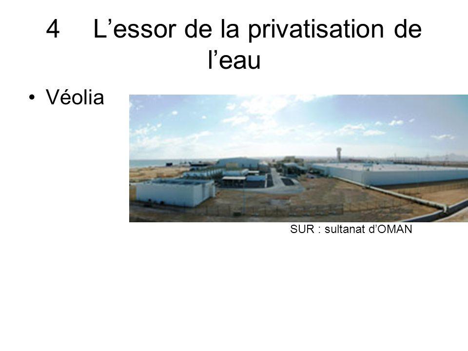 4 L'essor de la privatisation de l'eau