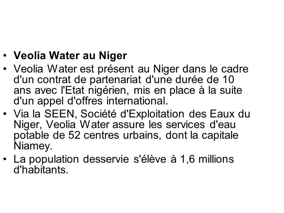 Veolia Water au Niger