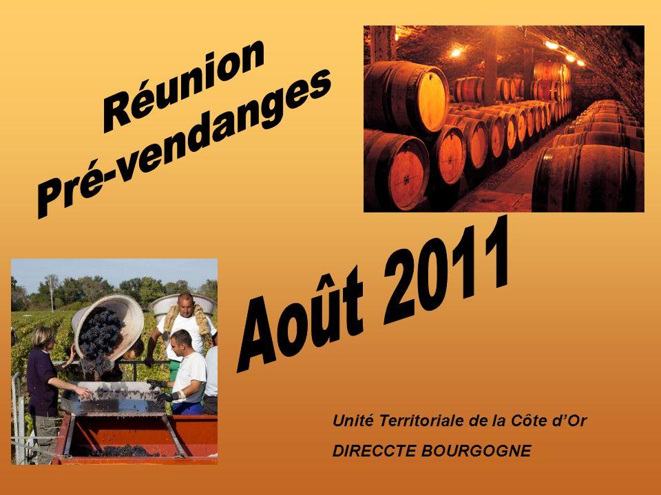 Réunion Pré-vendanges Août 2011 Unité Territoriale de la Côte d'Or
