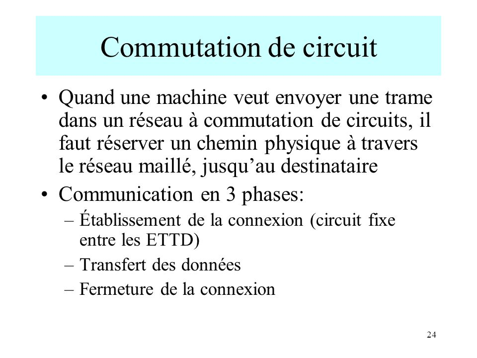 Commutation de circuit