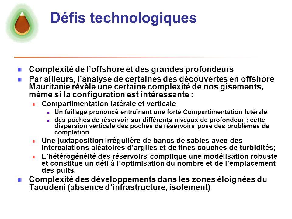 Défis technologiques Complexité de l'offshore et des grandes profondeurs.