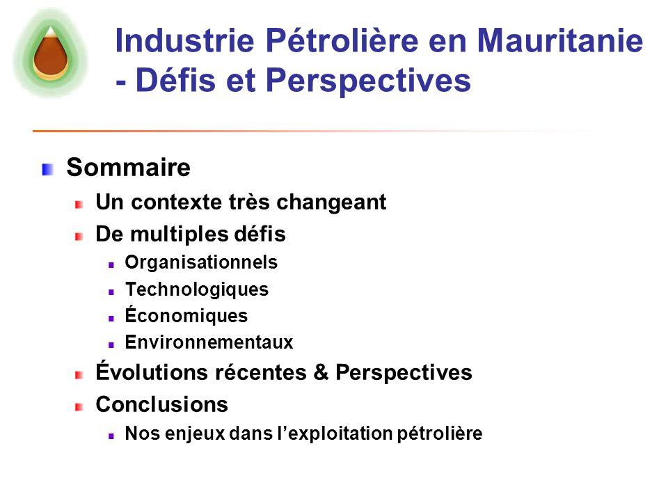 Industrie Pétrolière en Mauritanie - Défis et Perspectives