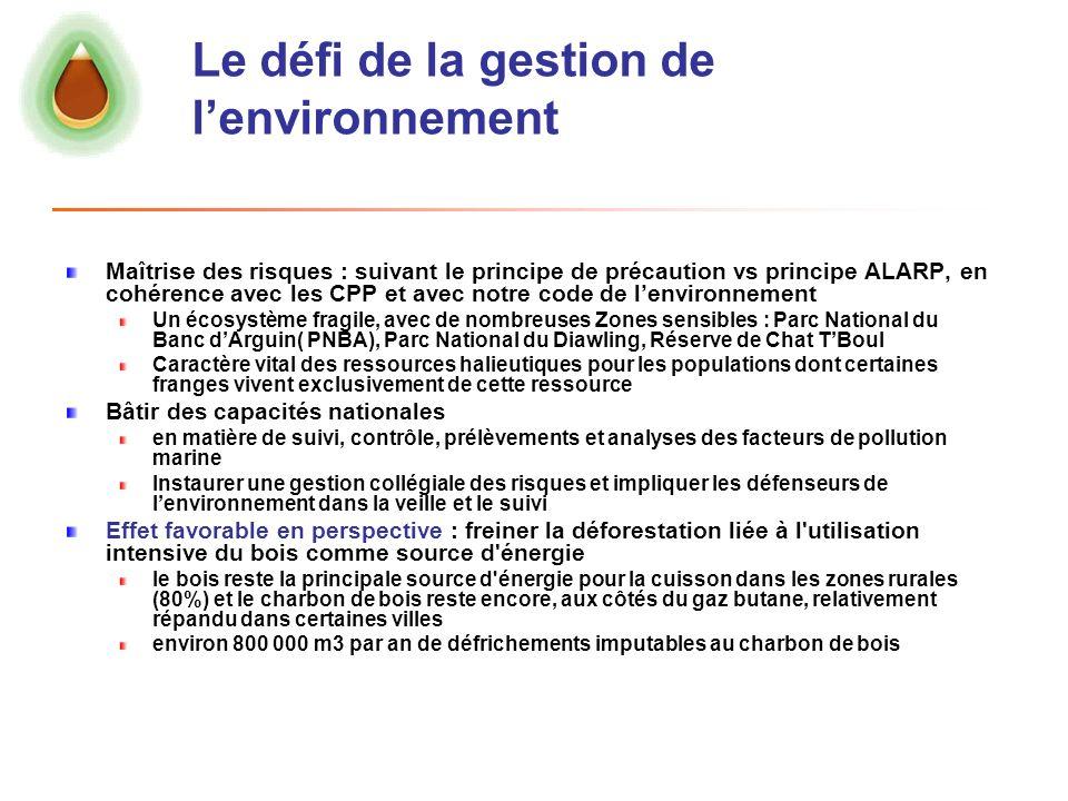 Le défi de la gestion de l'environnement