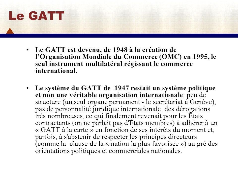 Le GATT