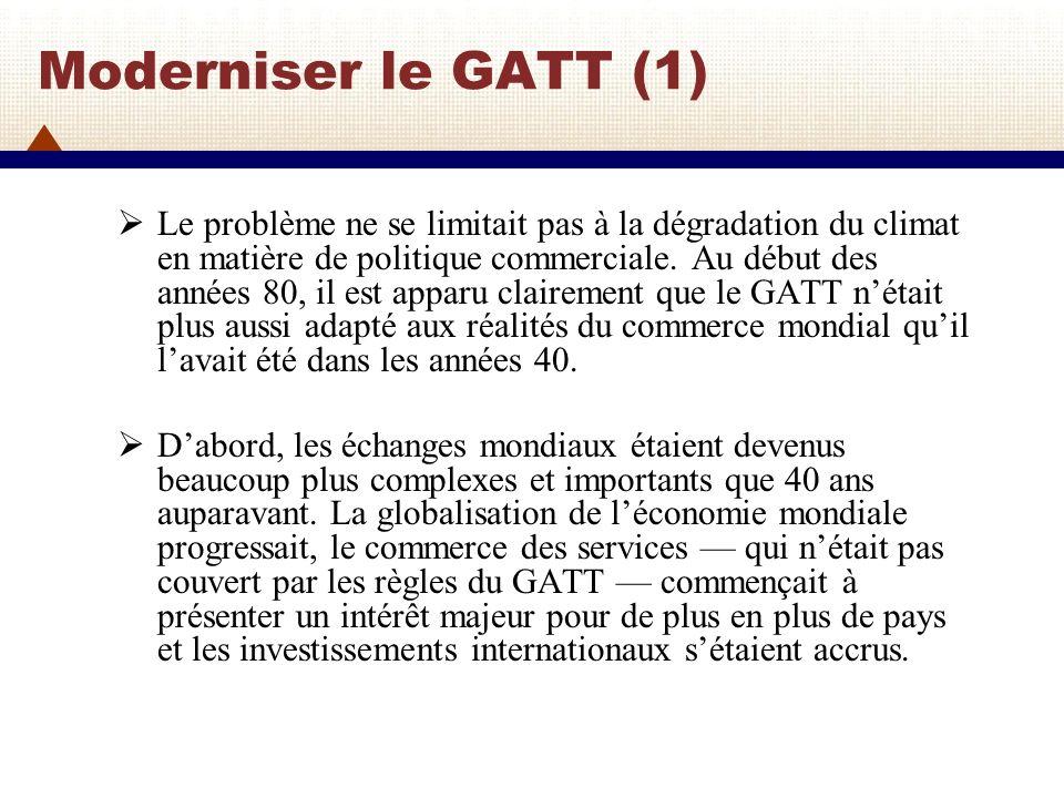 Moderniser le GATT (1)