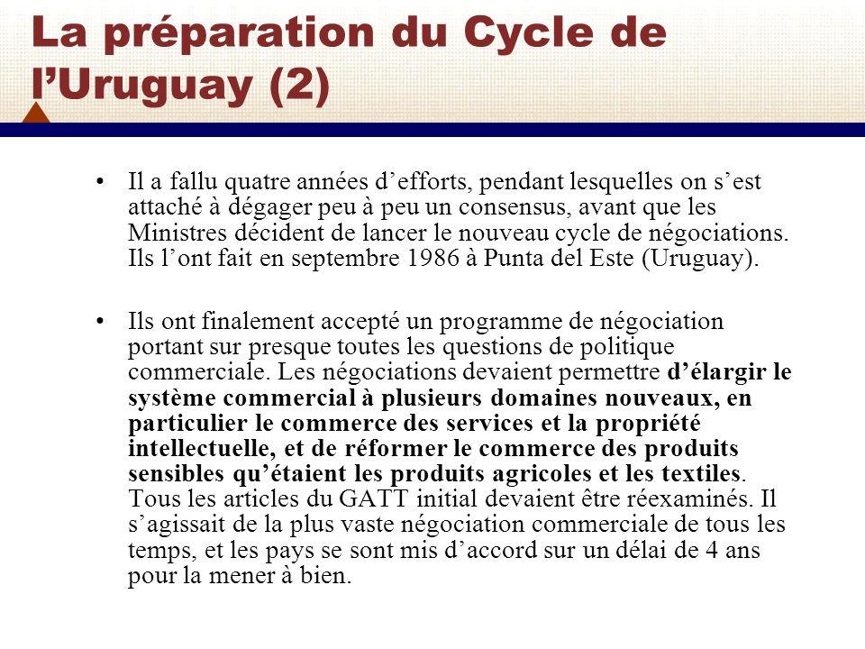La préparation du Cycle de l'Uruguay (2)