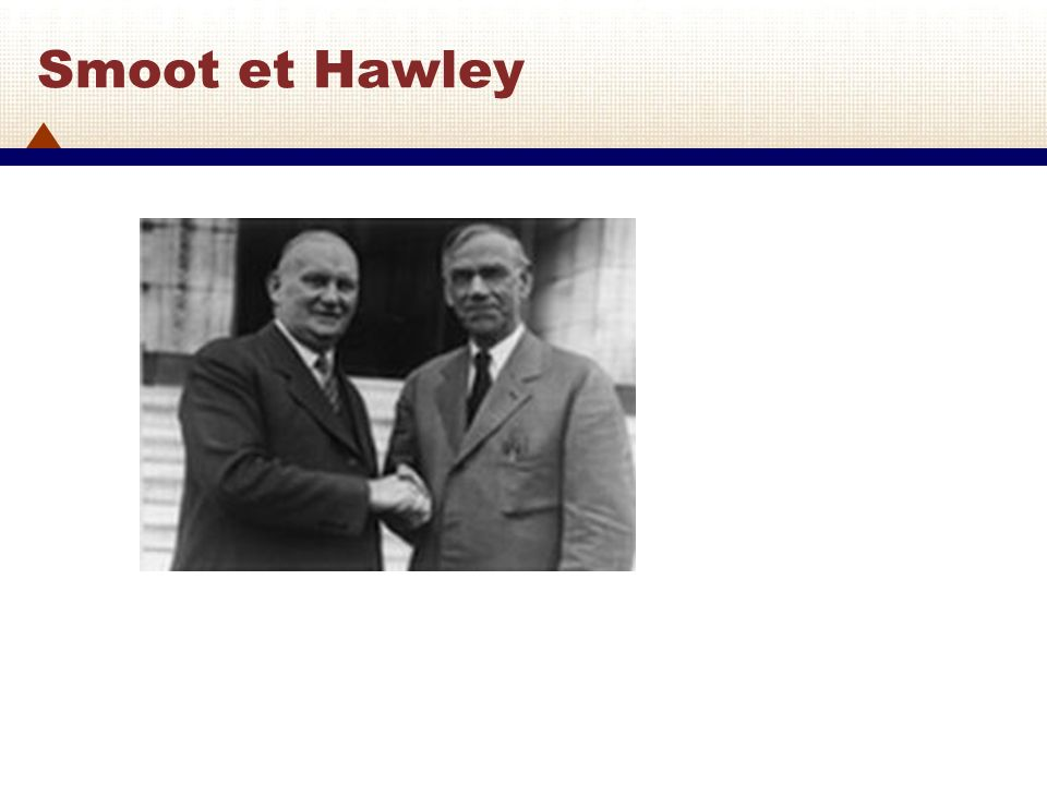Smoot et Hawley