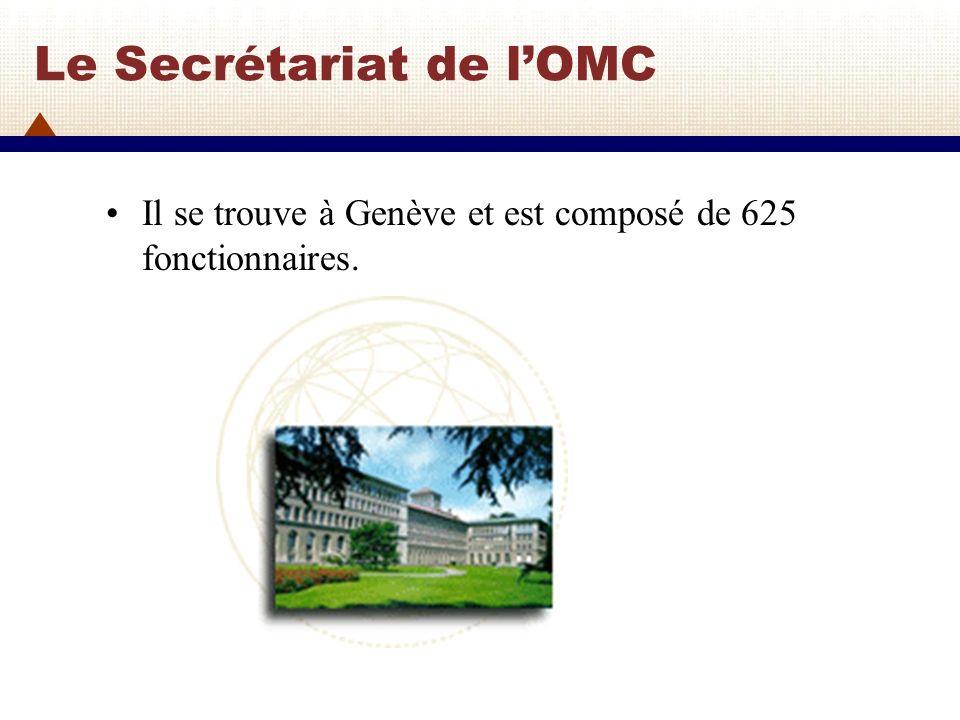 Le Secrétariat de l'OMC