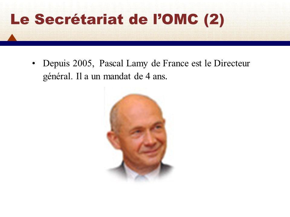 Le Secrétariat de l'OMC (2)