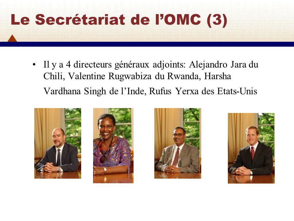 Le Secrétariat de l'OMC (3)