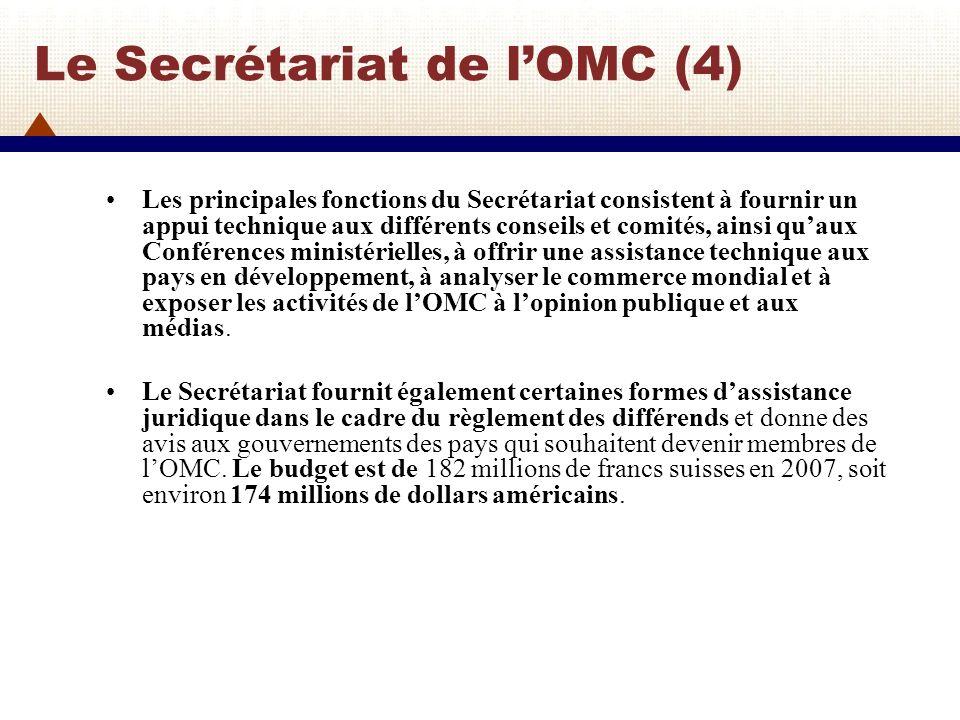 Le Secrétariat de l'OMC (4)