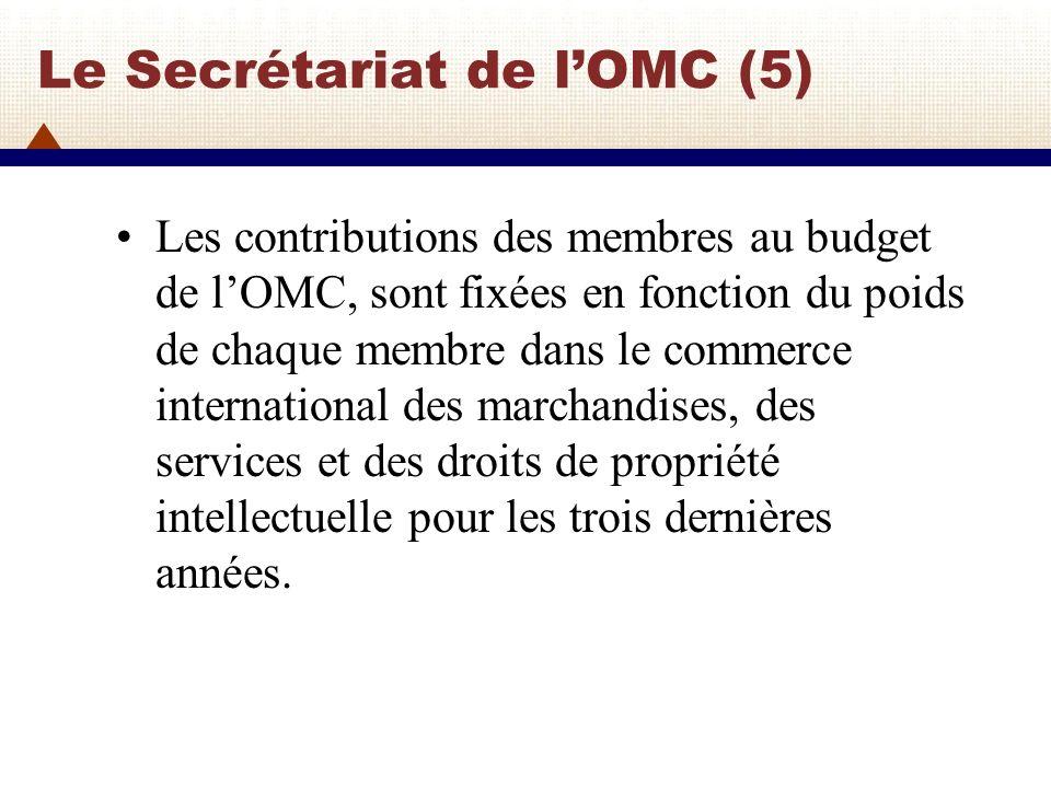 Le Secrétariat de l'OMC (5)