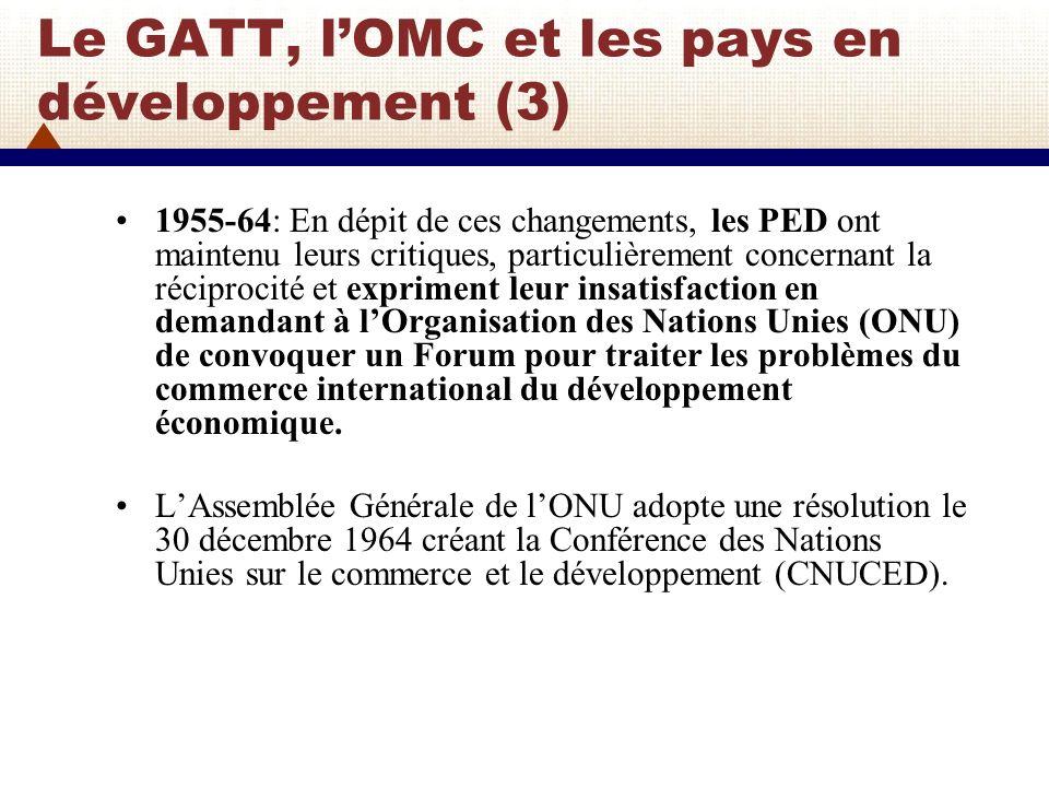 Le GATT, l'OMC et les pays en développement (3)