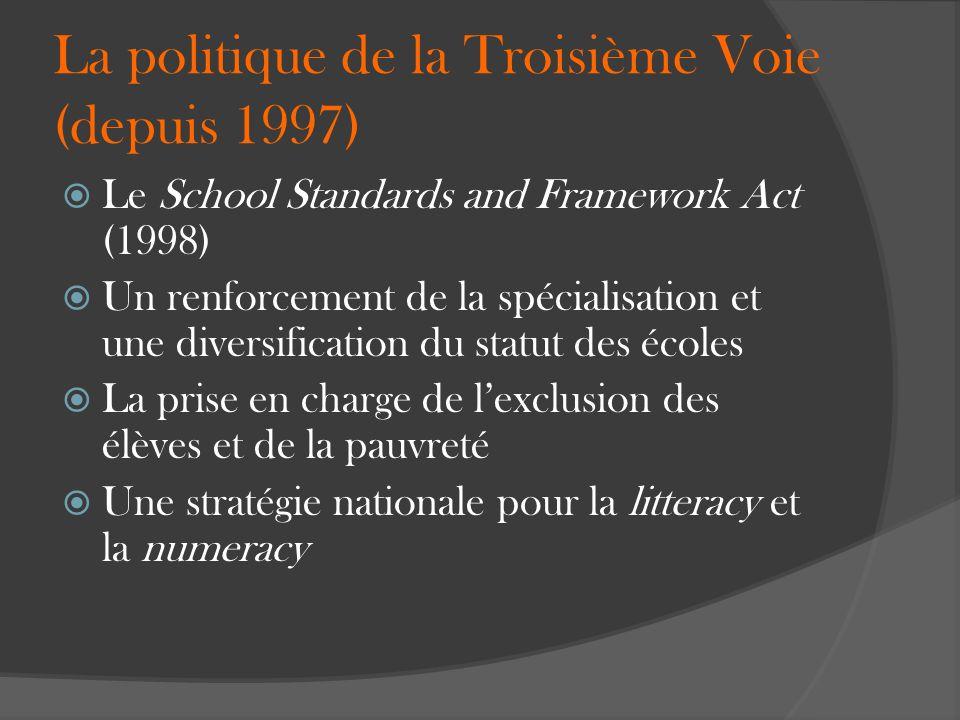 La politique de la Troisième Voie (depuis 1997)