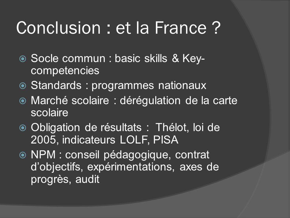 Conclusion : et la France