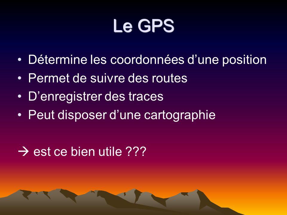 Le GPS Détermine les coordonnées d'une position