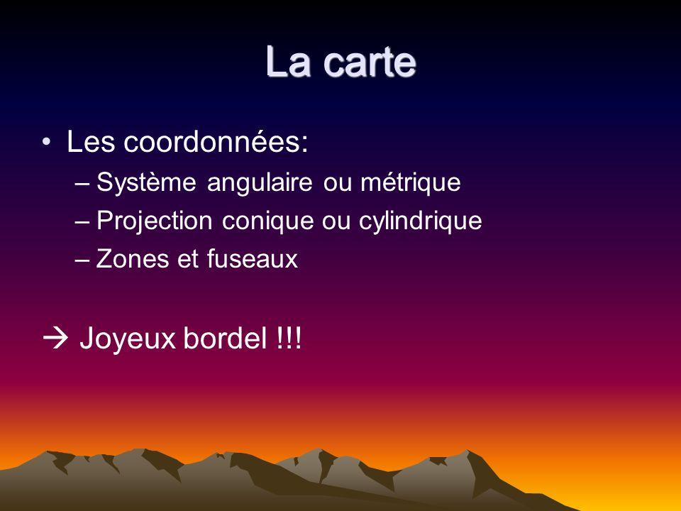 La carte Les coordonnées:  Joyeux bordel !!!