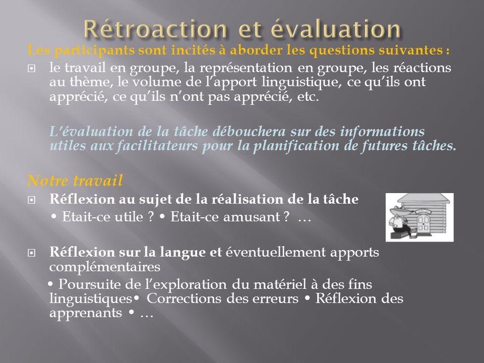 Rétroaction et évaluation