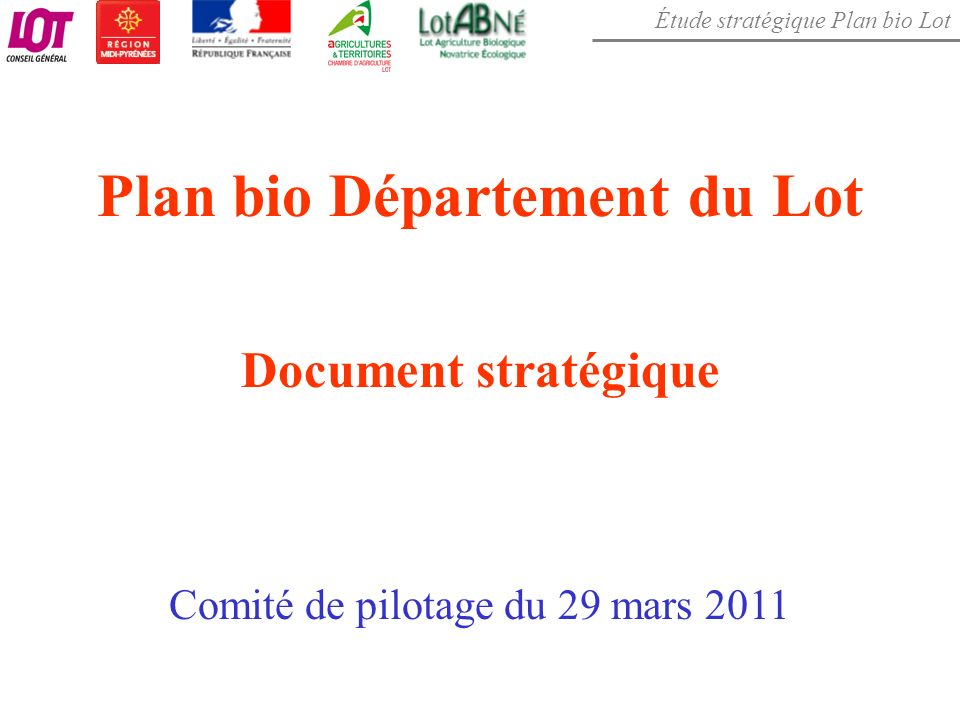 Plan bio Département du Lot