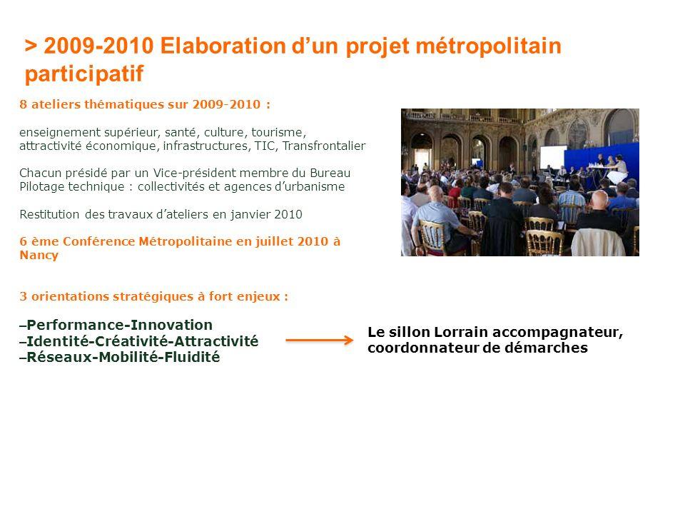 > 2009-2010 Elaboration d'un projet métropolitain participatif