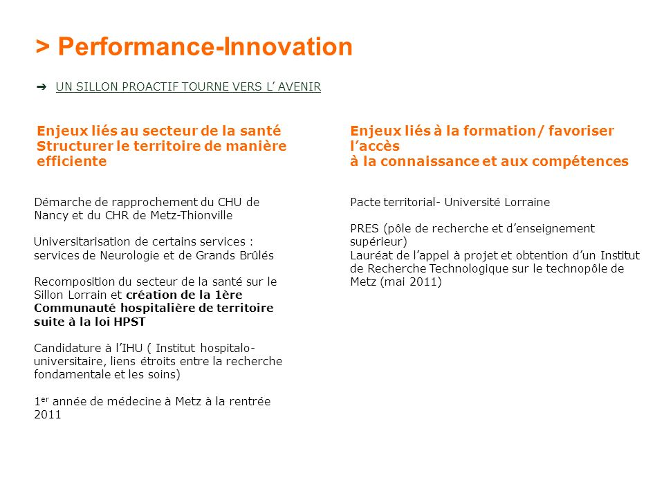 > Performance-Innovation